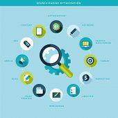 image of process  - Flat design vector illustration concept for seo process - JPG