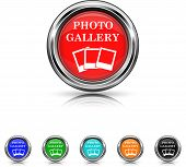 Photo Gallery Icon - Six Colors Vector Set