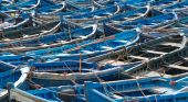 Blue Fishing Boats In Morocco