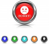 Sorry Icon - Six Colors Vector Set