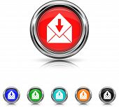 Receive E-mail Icon - Six Colors Vector Set
