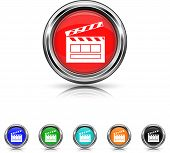 Movie Icon - Six Colors Vector Set