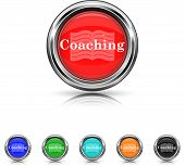 Coaching Icon - Six Colors Vector Set