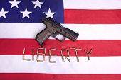 Concept Image Of Liberty In America.