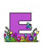 Alphabet Easter Egg Garden E