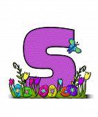 Alphabet Easter Egg Garden S