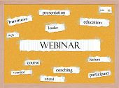 foto of pegboard  - Webinar Corkboard Word Concept with great terms such as education web lecture and more - JPG