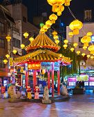 KOBE, JAPAN - NOVEMBER 26, 2012: Kobe Chinatown in the evening. It is one of three designated Chinat