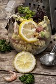 salad with cabbage and vegetables