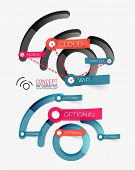 Vector wifi wireless network concept and tag cloud you can change, infographic elements