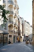 Street Rue Des Echevins In Nantes, France