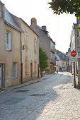Street Rue Du Pilori In Le Croisic Town, France