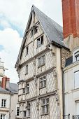 Facade Of Old Adam's House In Angers, France