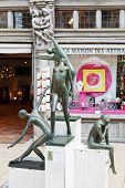 Modern Sculpture Near Maison Des Artisans Angers