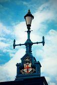 Vintage lamp post in London Street.