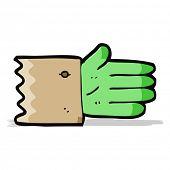 cartoon zombie hand symbol