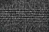 Black and white wool twill pattern.