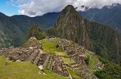 View Over Machu Picchu Inca Ruins, Peru