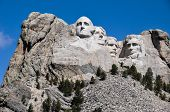 Famous Us Presidents On Mount Rushmore National Monument, South Dakota, Usa