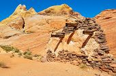 Execution Wall In Valley Of Fire Provincial Park, Nevada, Usa