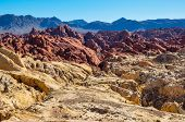 stock photo of valley fire  - Valley Of Fire Provincial Park - JPG