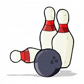 cartoon ten pin bowling