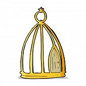 cartoon bird cage