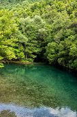 The Green Waters Of Voidomatis River That Flows Through Epirus Region, Greece.