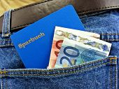 German savings book in pocket