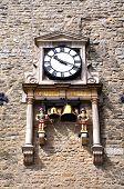 Quarterboys clock on Carfax Tower.