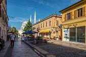 The Pedestrian Street Known As Sheshi In Shkodra.