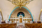Inside Resurrection Of Christ Orthodox Cathedral In Tirana.