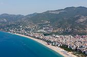 stock photo of cleopatra  - Alanya - the beach of Cleopatra . Alanya is one of most popular seaside resorts in Turkey