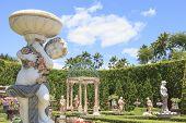 Chonburi Thailand - August11 : Beautiful Decoration  European Garden Style In Saun Nongnuch Park Imp