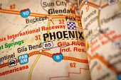 Phoenix City On A Road Map