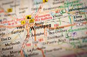 Winnipeg City On A Road Map