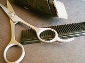 Hair Clippers, Scissors, Comb