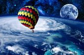 Balloon Earth Moon Space