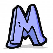cartoon letter m