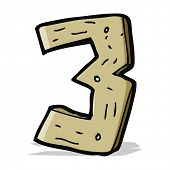 cartoon wooden number