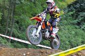 Motocross In Valdesoto, Asturias, Spain..
