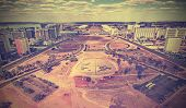Vintage Skyline Of Brasilia City, Brazil