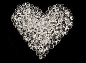 Heart Made By Glass Beads