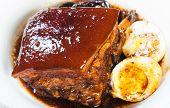 hong ba or braised pork in a sweet soy sauce