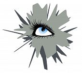 Abstract Female Eye