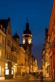 The Night Scene Of Shopping Street In Heidelburg, Germany