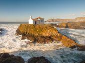 stock photo of chapels  - Little chapel in Galician coast - JPG