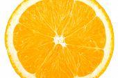 Macro food collection - Orange slice. Isolated on white background
