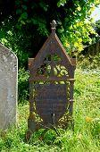 Wrought iron gravestone, Burford.