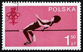Postage Stamp Poland 1980 High Jump, Sport